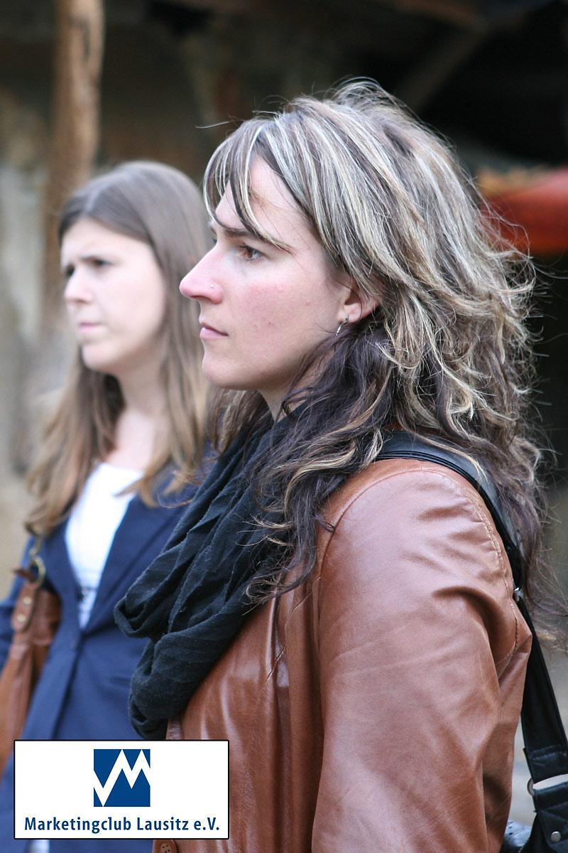 Bianca Machus (Lausitzer Rundschau) und Katharina Buchan (ancedis GmbH).