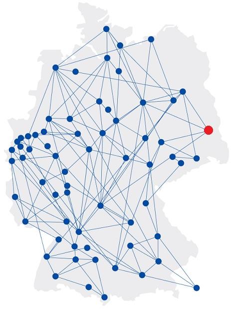 Deutschlandkarte Marketing Clubs